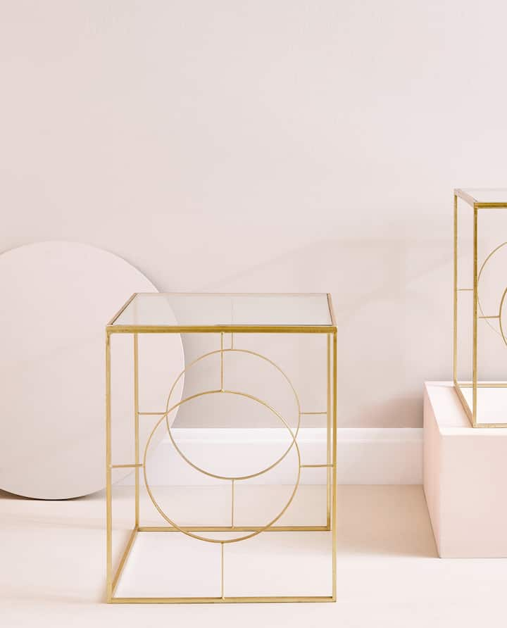 Gold Nest Of Tables Set 2