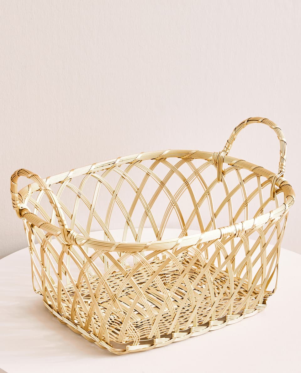 OVAL GOLDEN BASKET