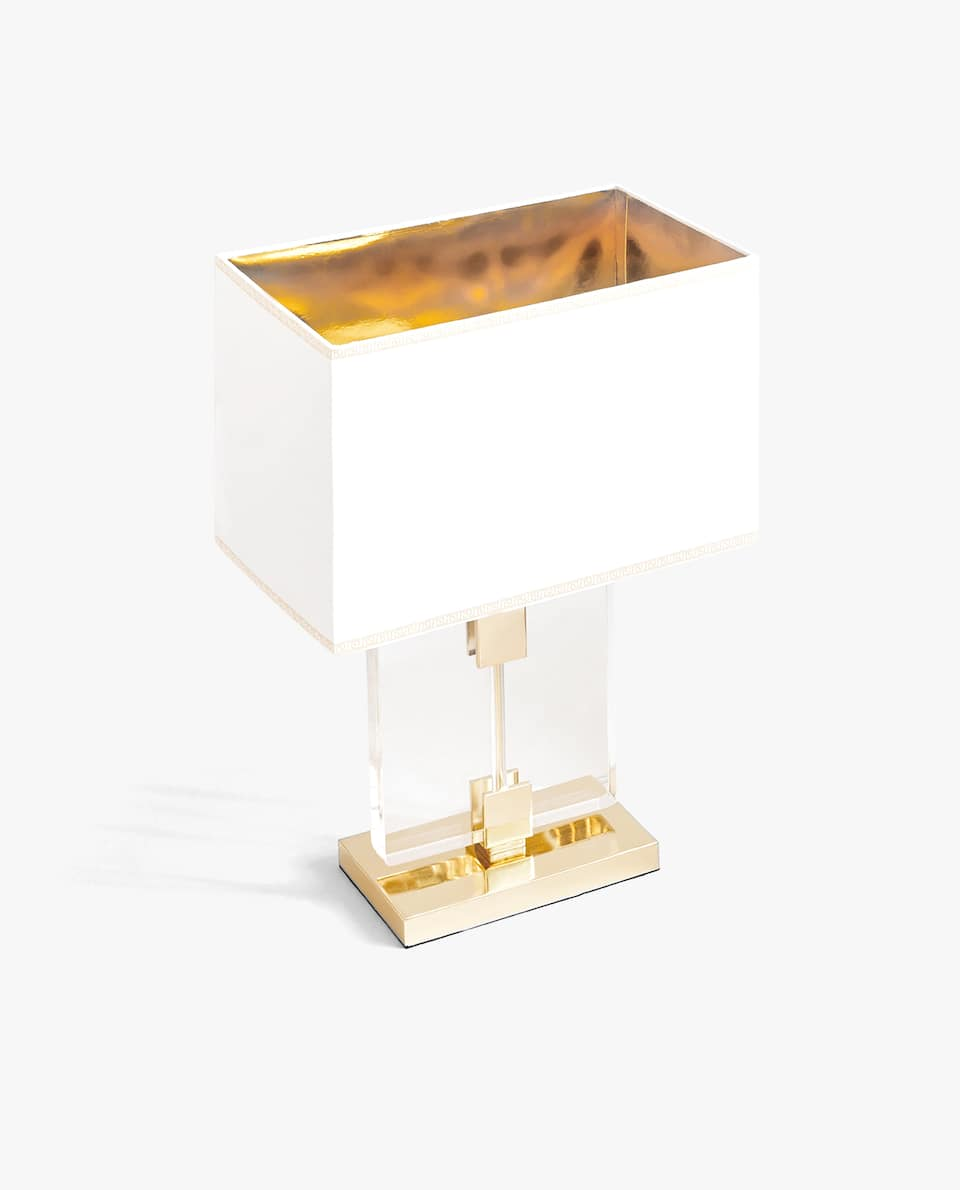 LAMP WITH GOLDEN BASE