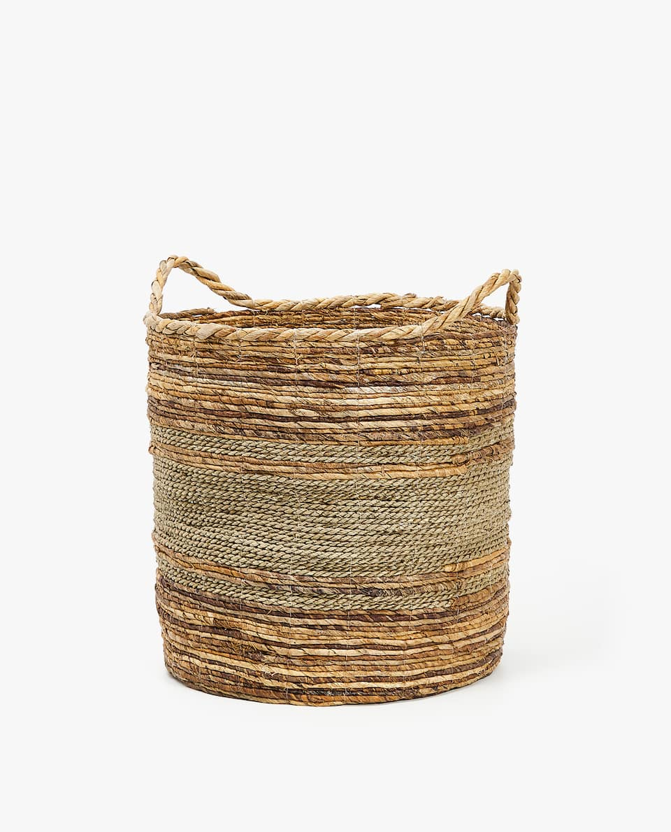 TEXTURED LAUNDRY BASKET