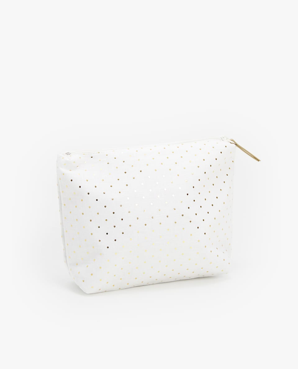 POLKA-DOT WATERPROOF TOILETRY BAG