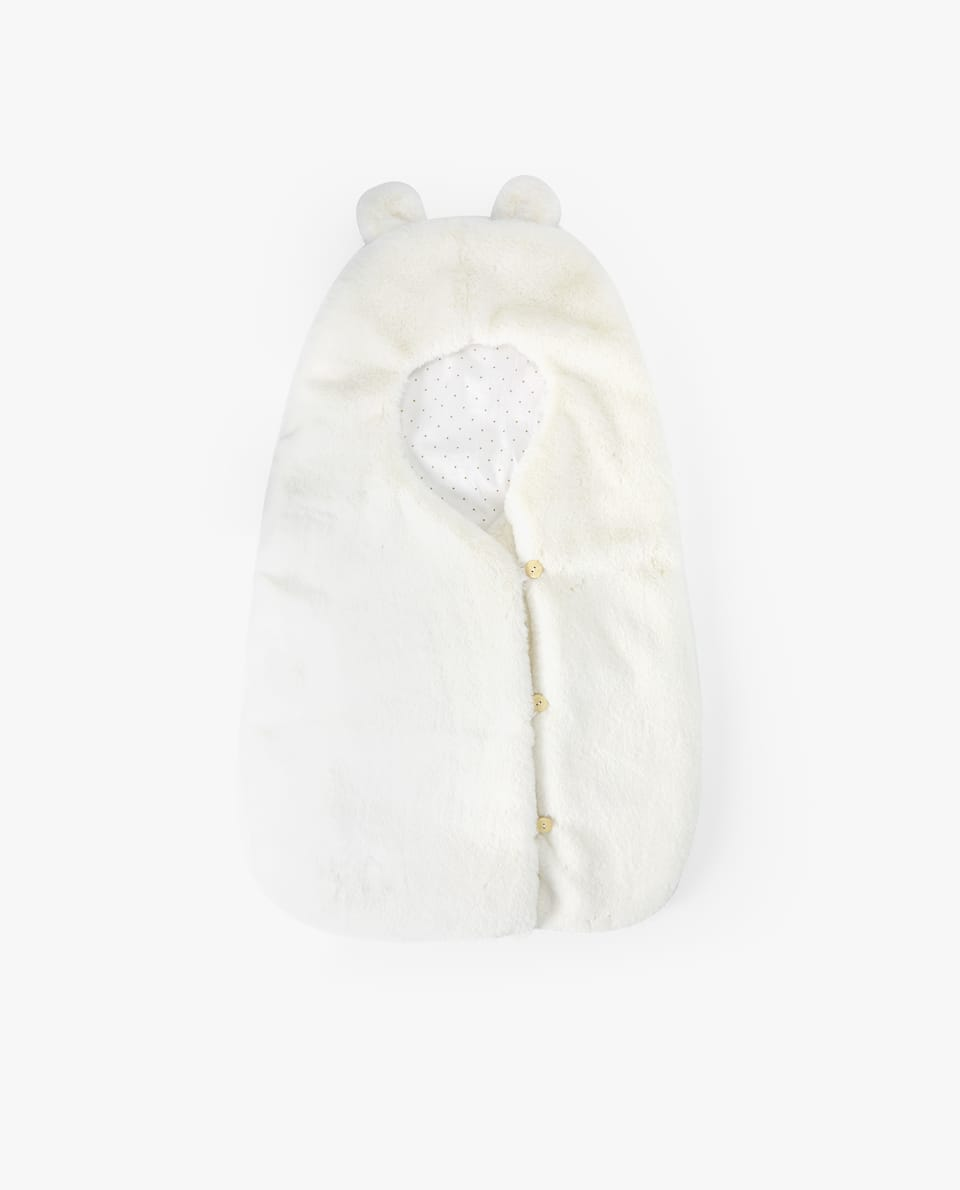 FAUX FUR SLEEPING BAG WITH EARS