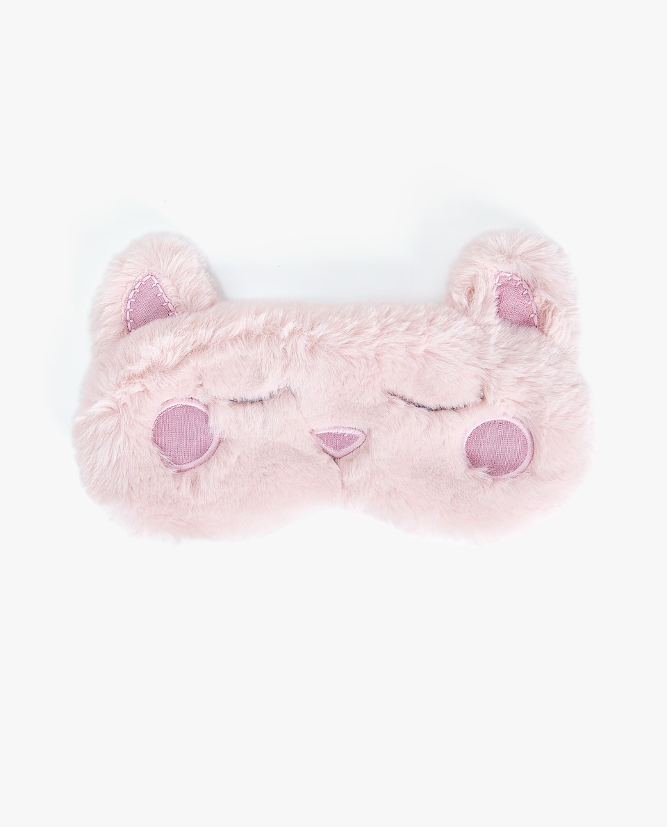 FAUX FUR KITTEN EYE MASK