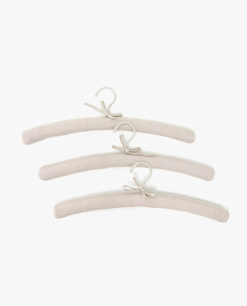 COTTON JERSEY HANGER (SET OF 3)