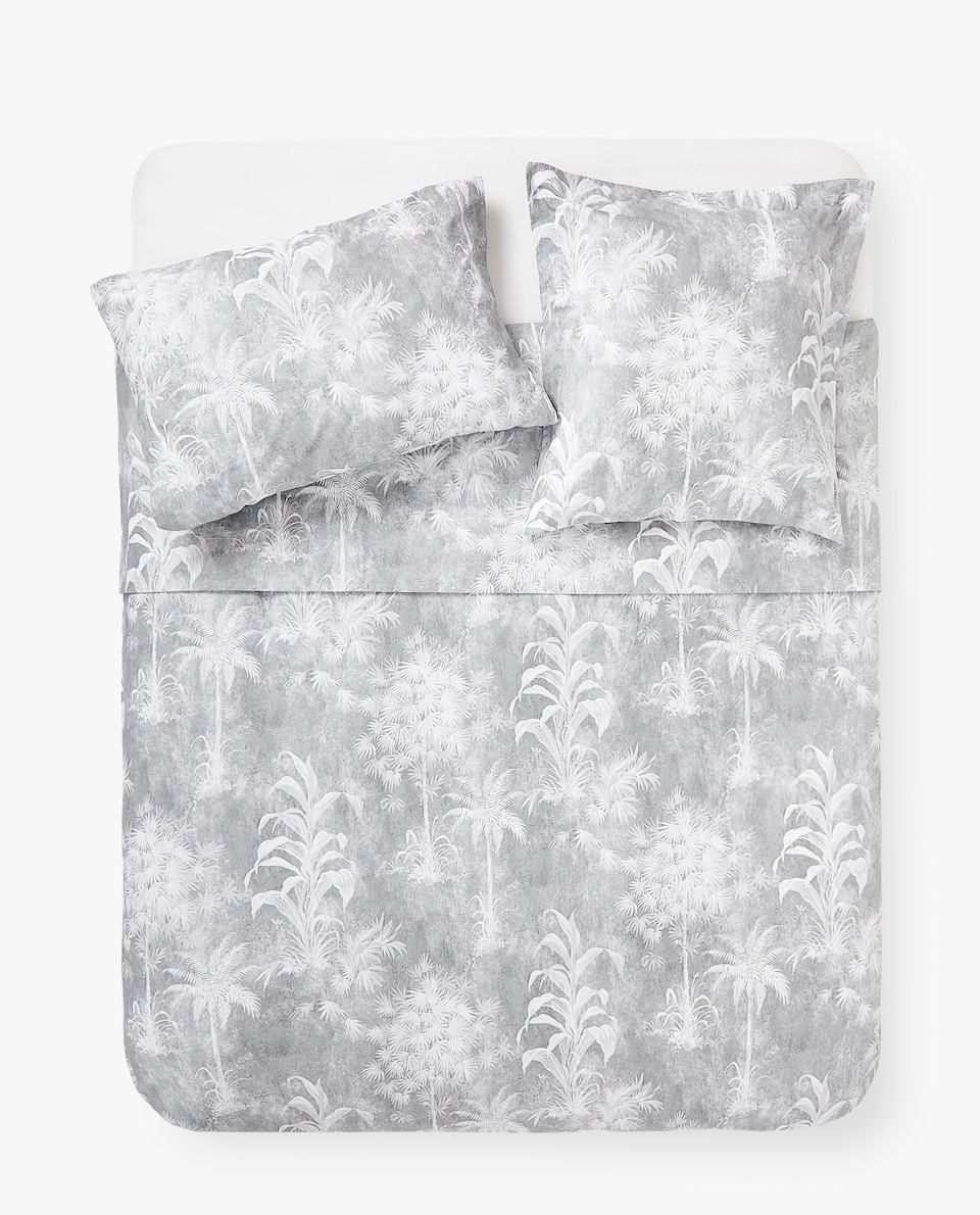 PALM TREE PRINT DUVET COVER