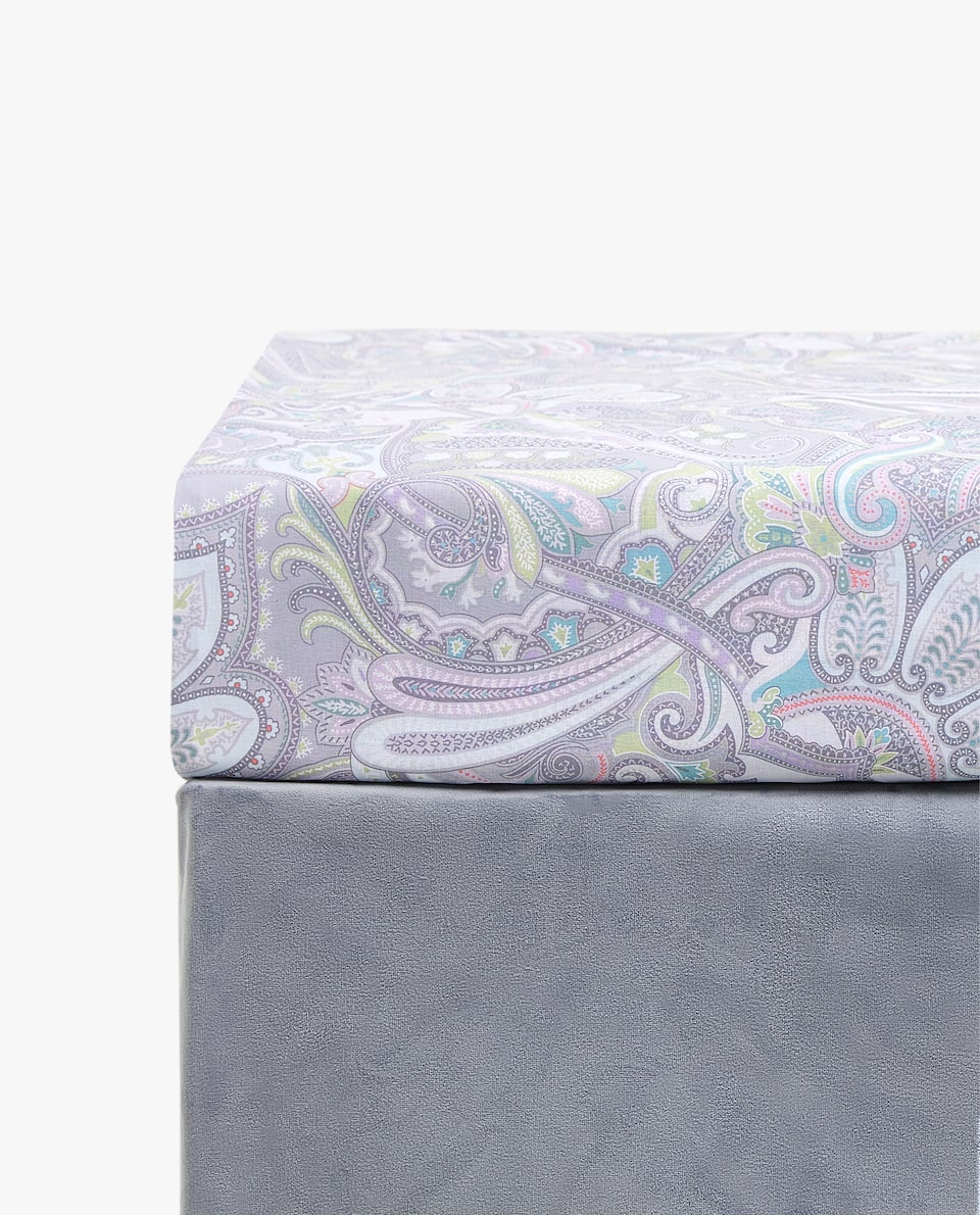 PAISLEY PRINT FITTED SHEET