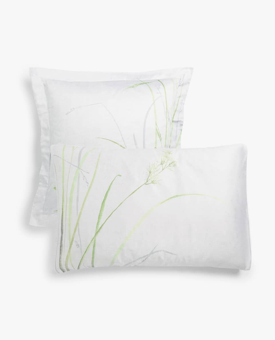 CRANE PRINT PILLOWCASE