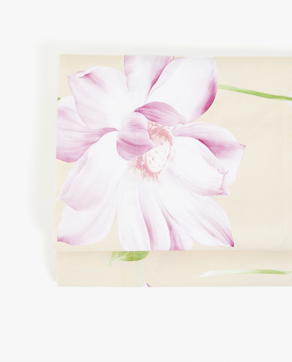 LOTUS FLOWER PRINT FLAT SHEET