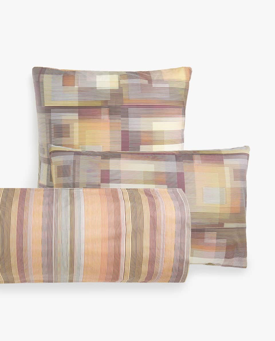 MULTICOLOURED GEOMETRIC PRINT PILLOWCASE