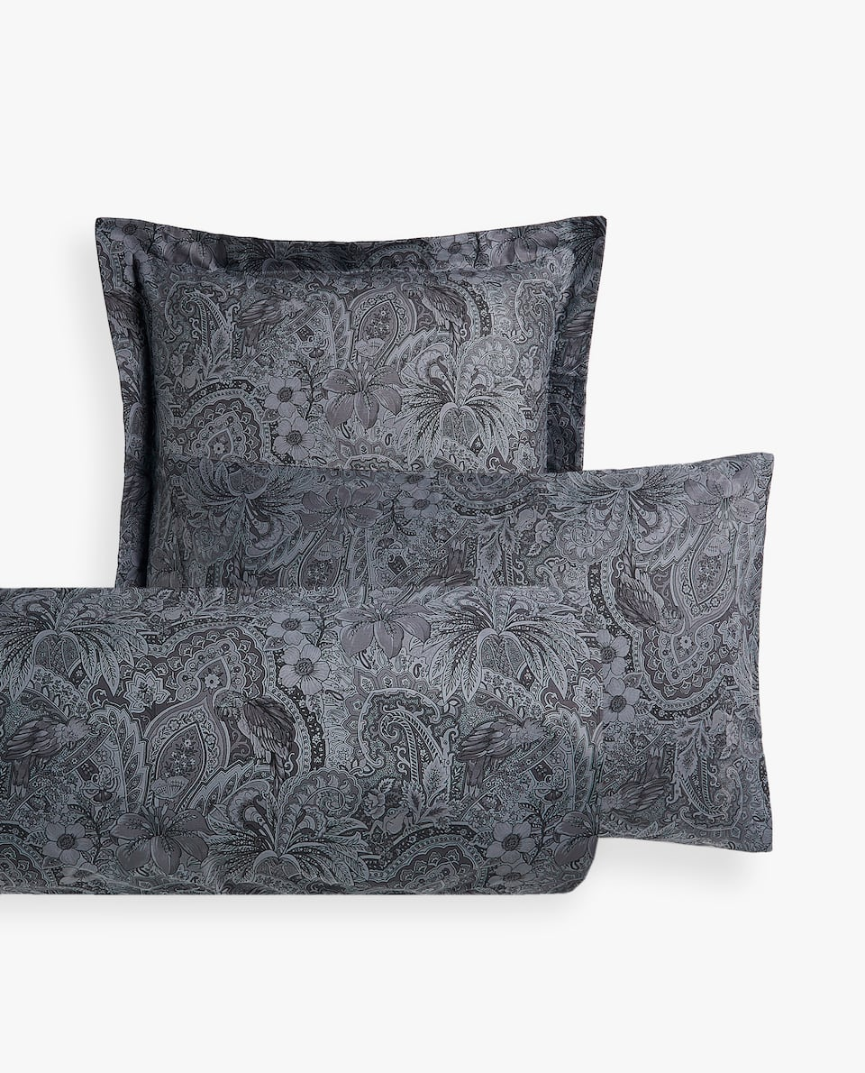MONOCHROME PASILEY PRINT PILLOWCASE