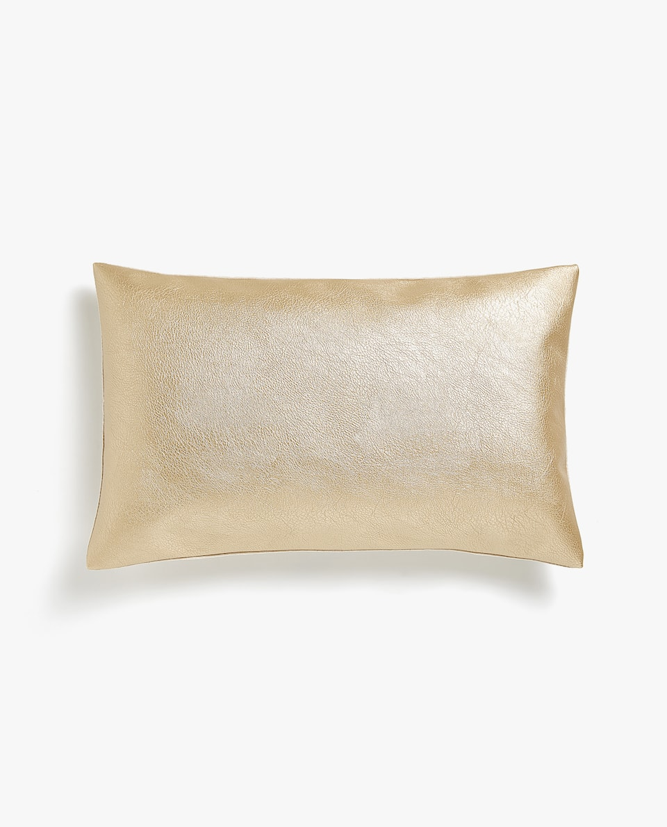 Faux leather cushion cover