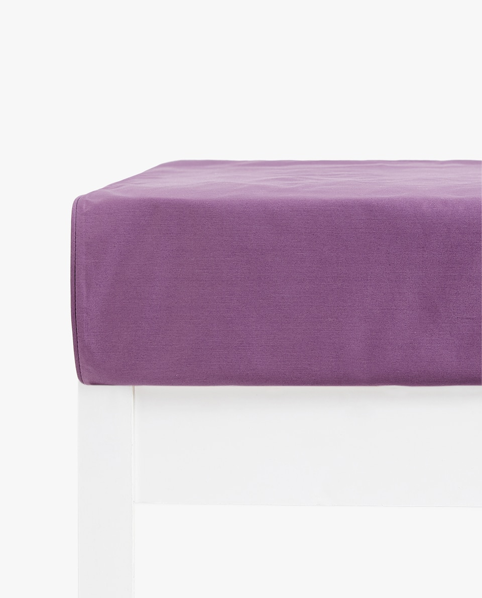 PLUM SATEEN FITTED SHEET