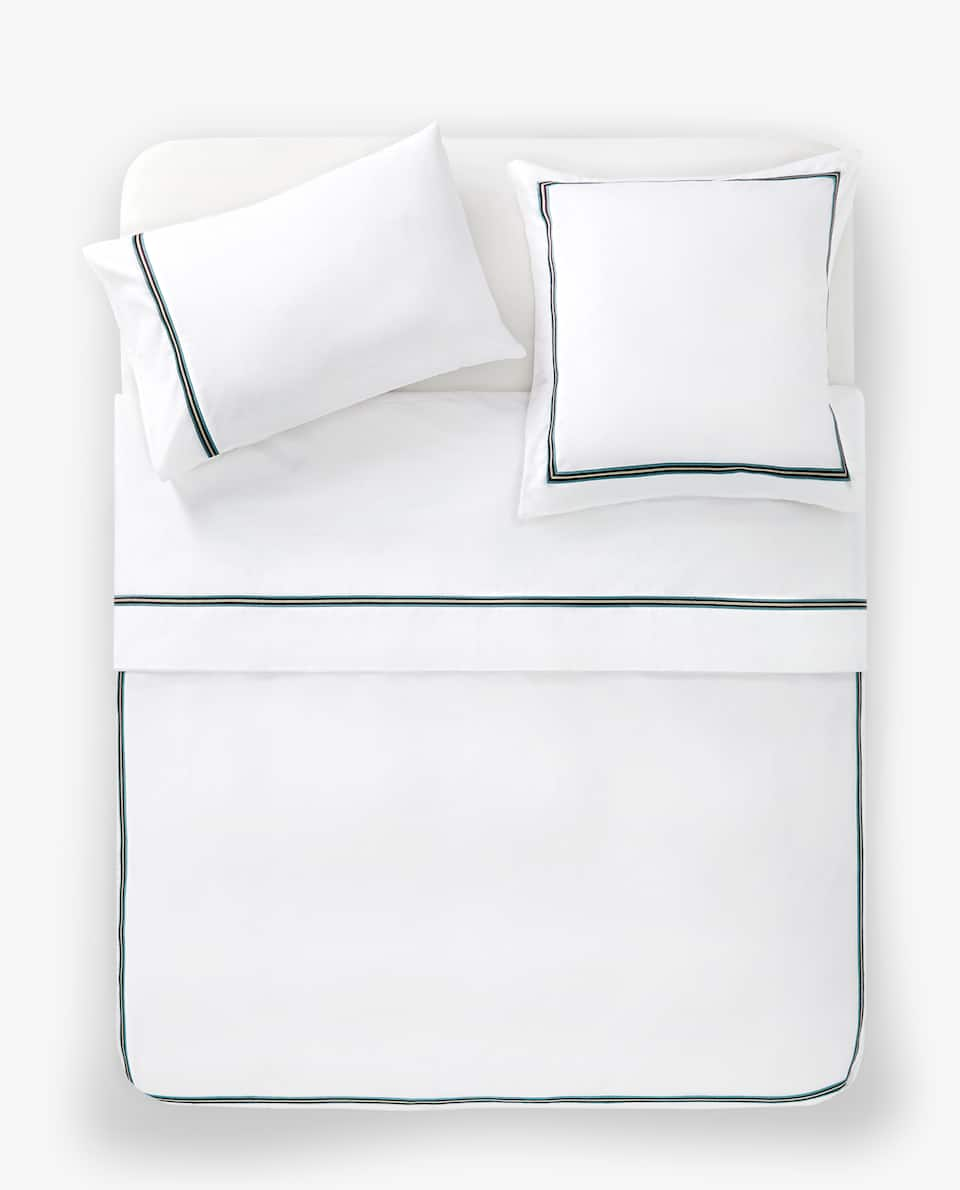 EMBROIDERED BAND DUVET COVER