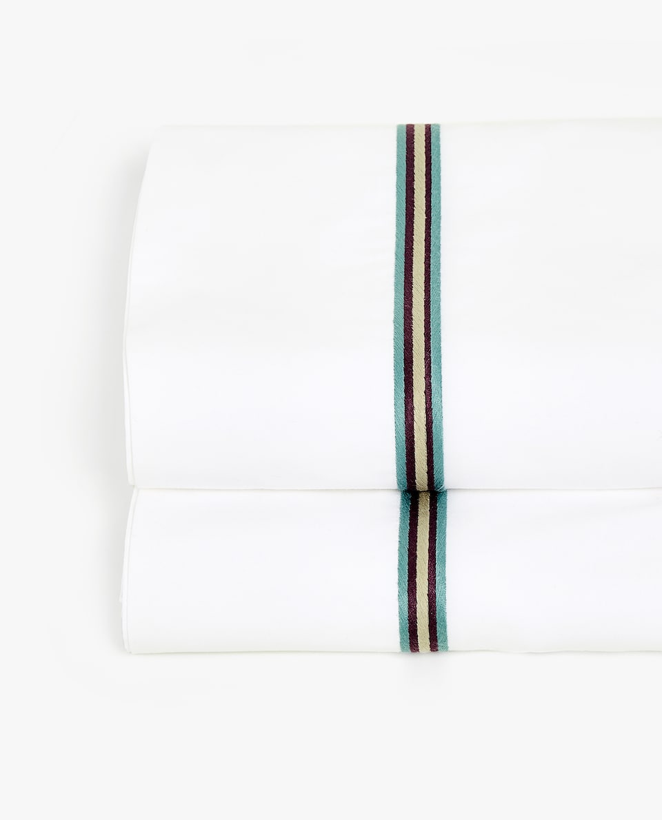 EMBROIDERED BAND FLAT SHEET