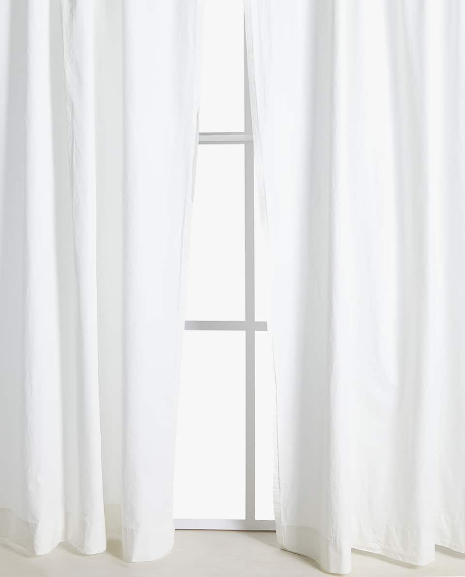WASHED COTTON CURTAIN