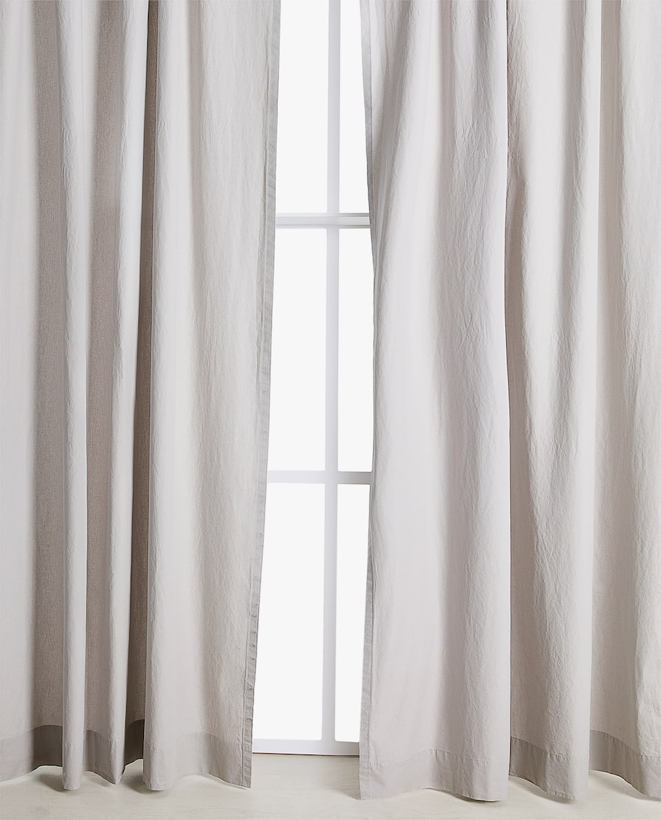 Washed Cotten Curtain
