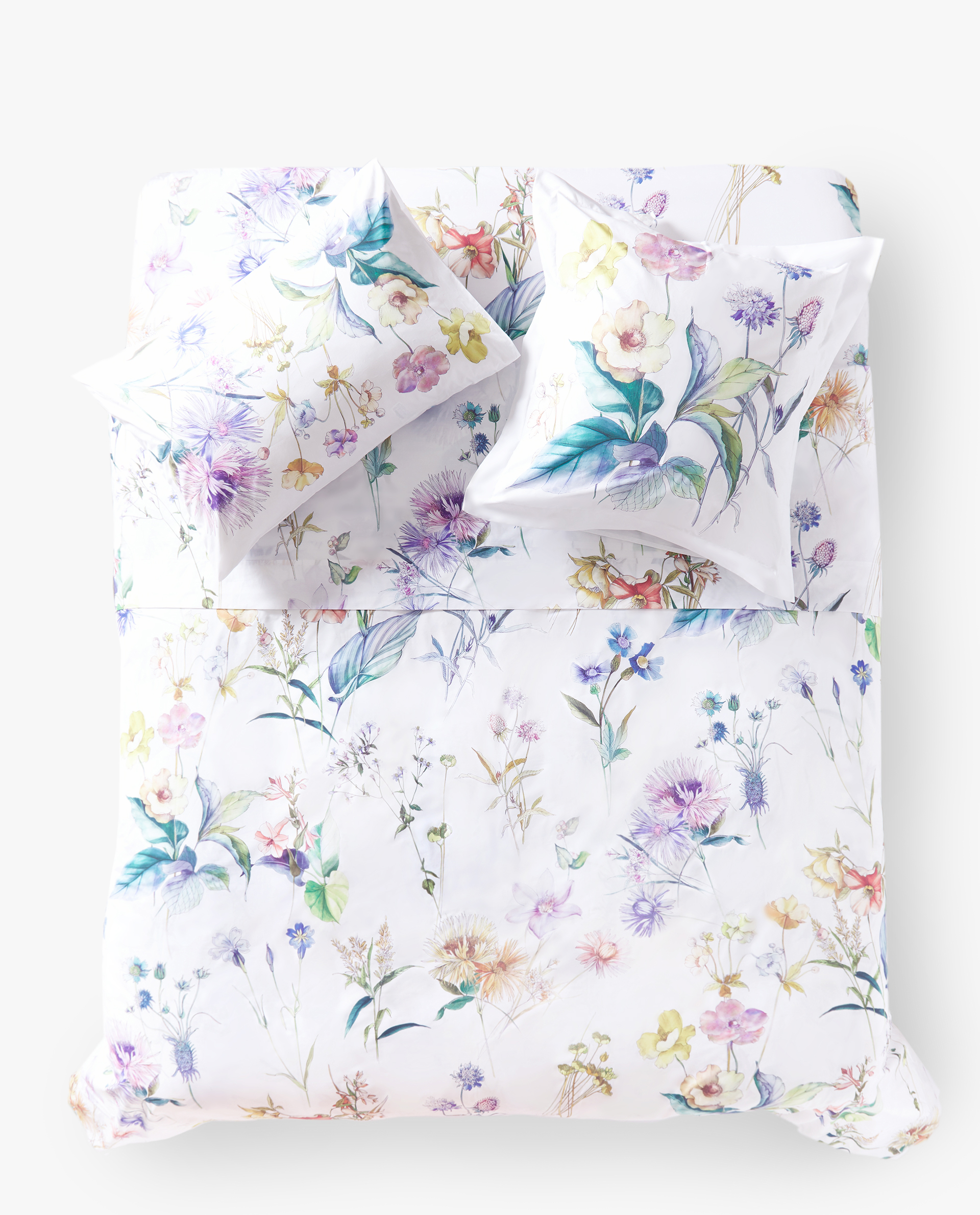 REVERSIBLE BOTANICAL PRINT DUVET COVER