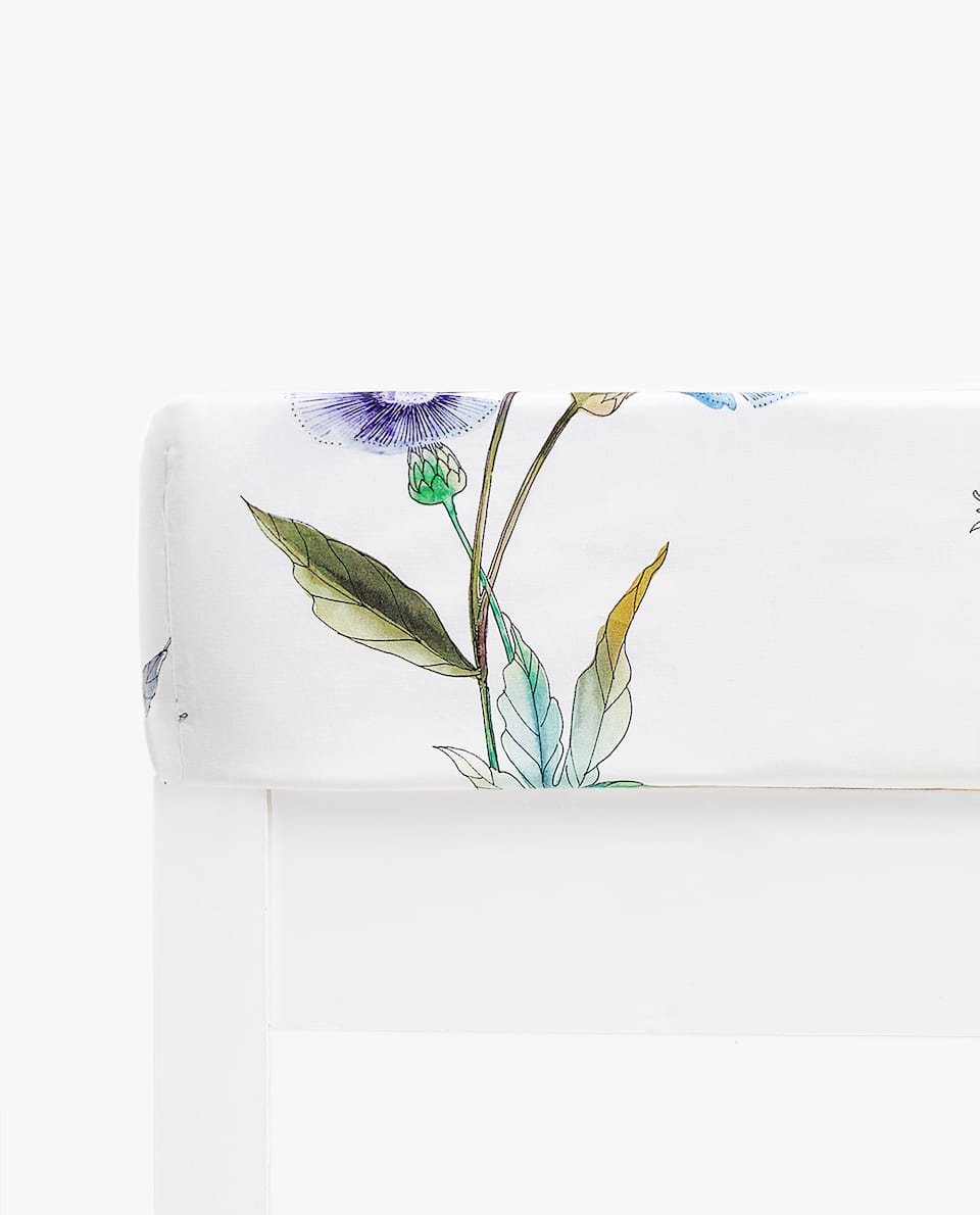 BOTANICAL PRINT FITTED SHEET