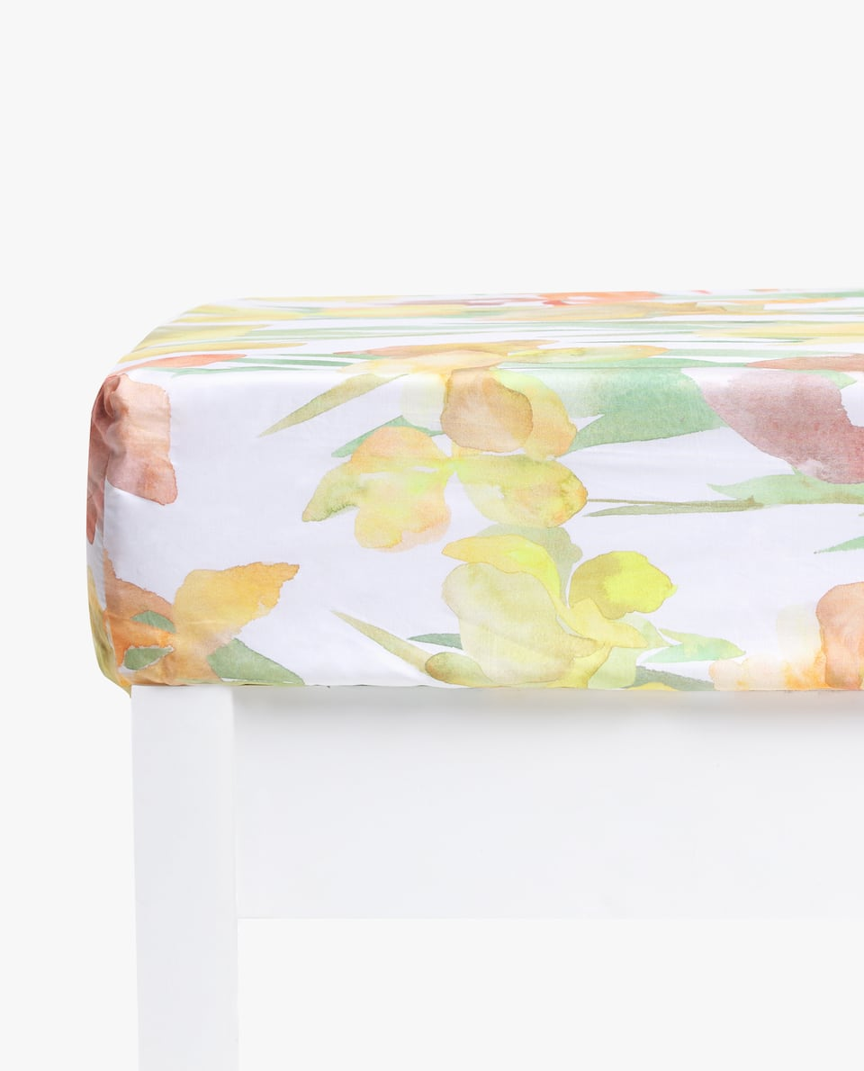 DAFFODIL PRINT FITTED SHEET