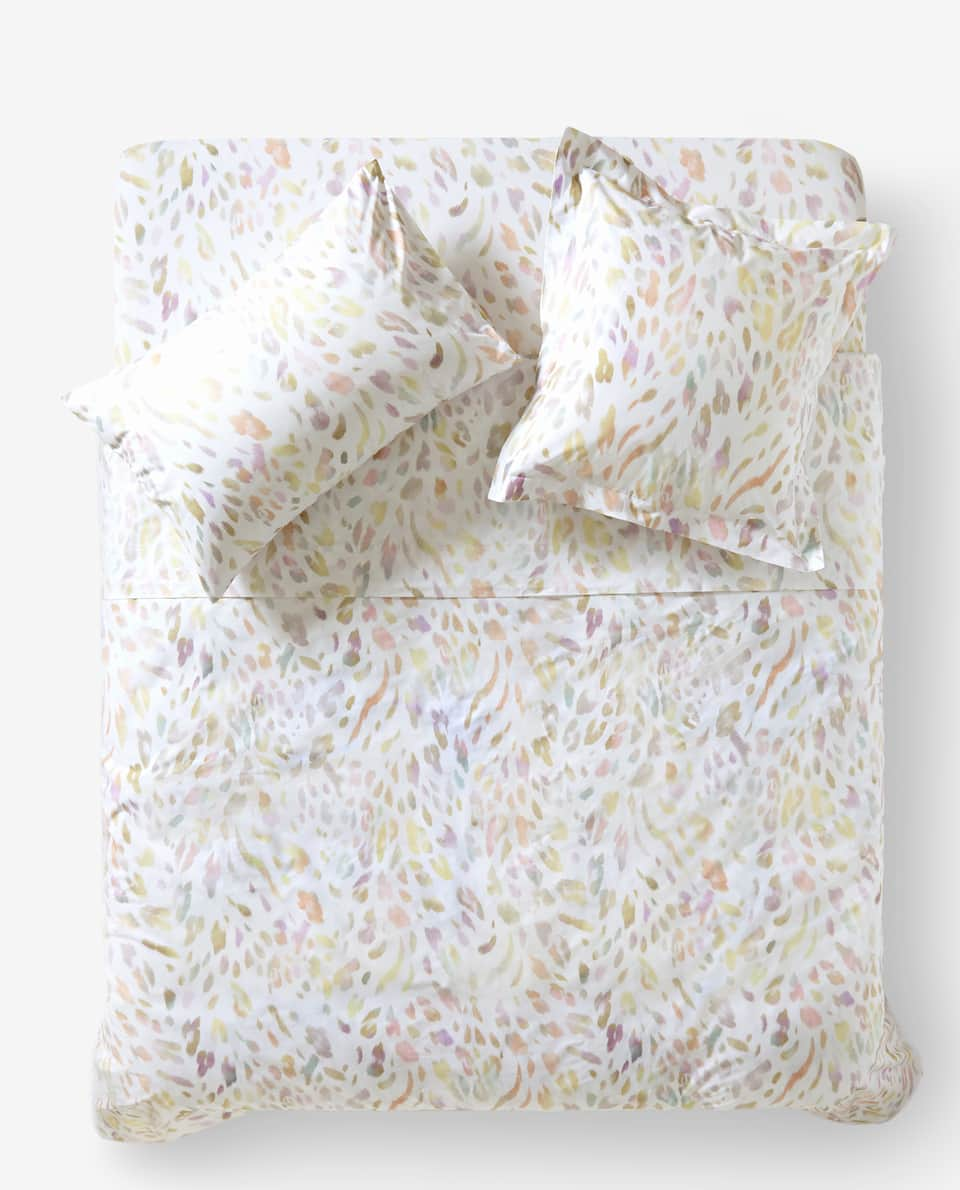 MULTICOLOURED ANIMAL PRINT DUVET COVER