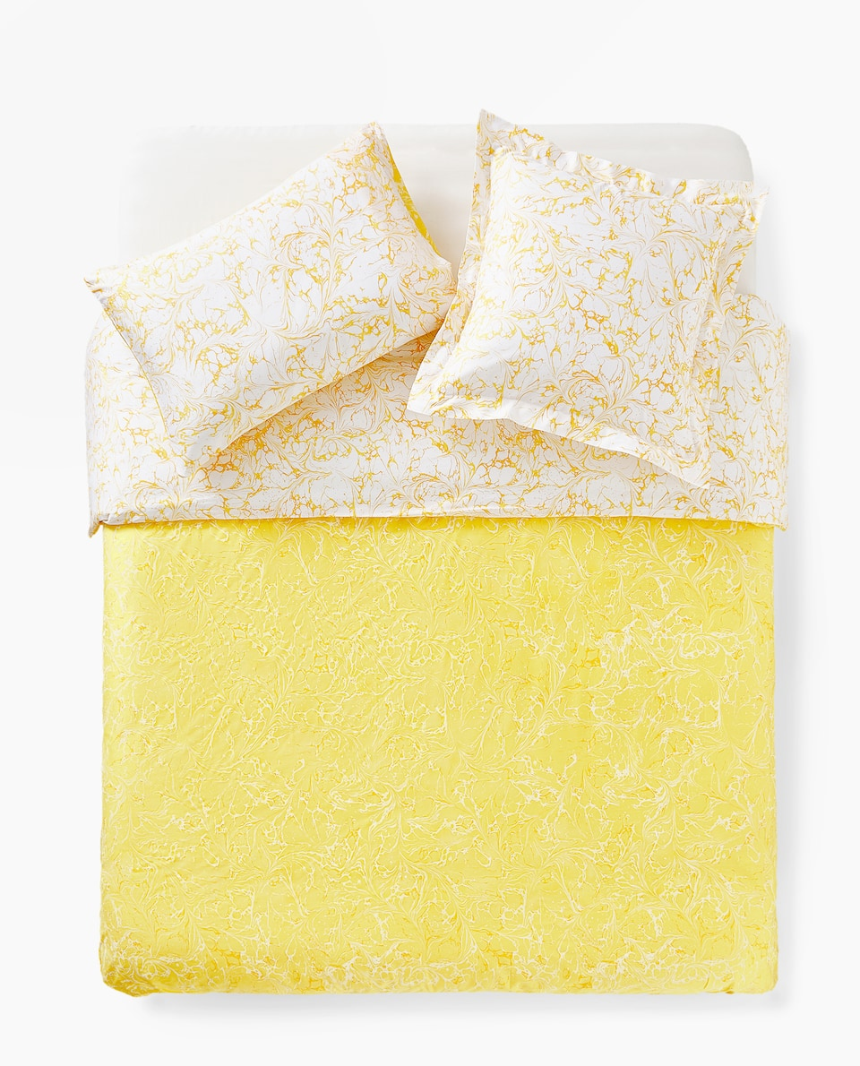 REVERSIBLE MARBLE-EFFECT DUVET COVER
