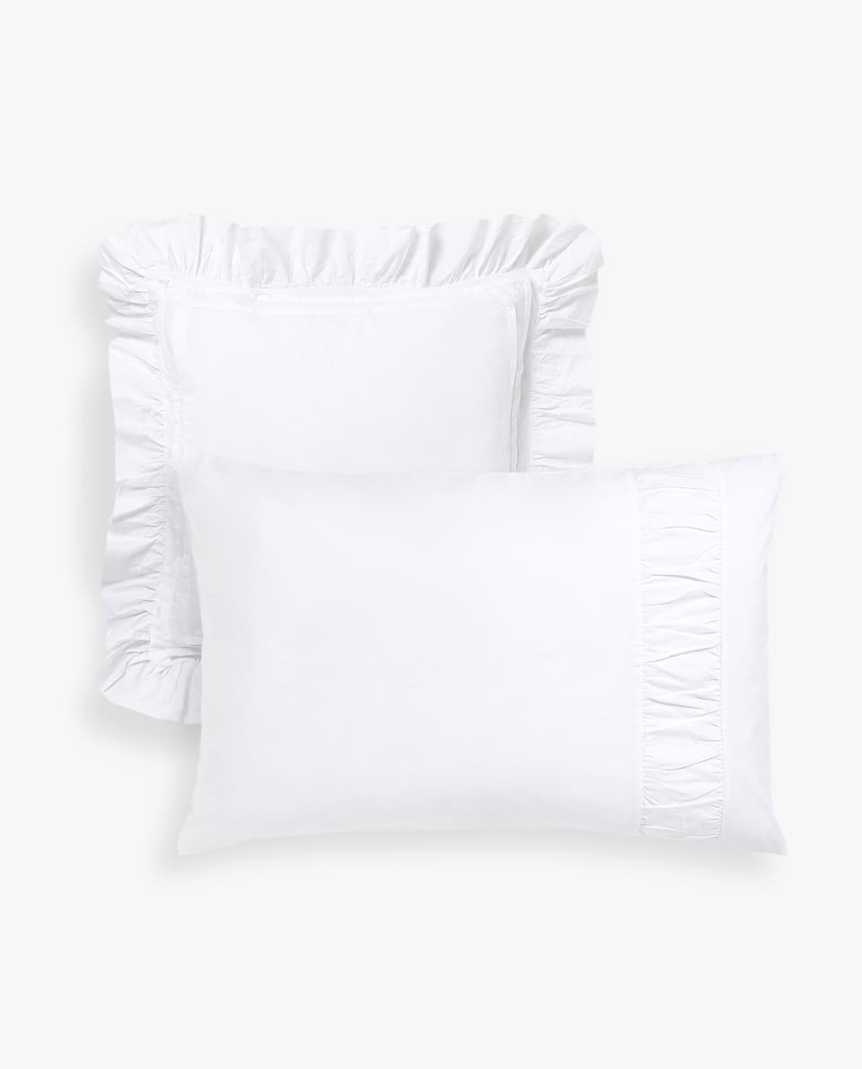 FADED COTTON PERCALE PILLOWCASE