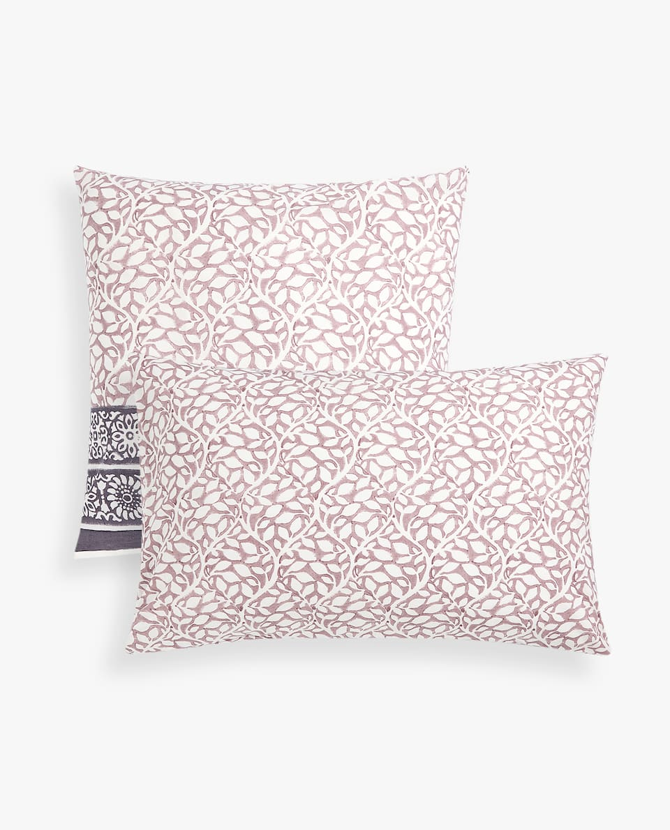OMBRÉ PILLOWCASE WITH FLORAL PRINT