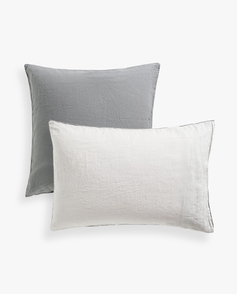 FADED LINEN PILLOWCASE