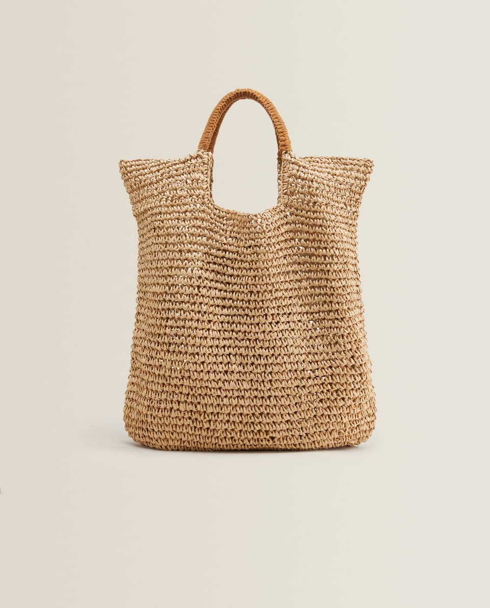 TOTE BAG WITH CONTRAST HANDLES