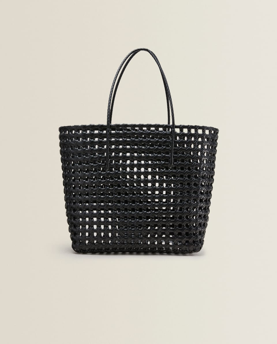 RIGID OPENWORK TOTE BAG