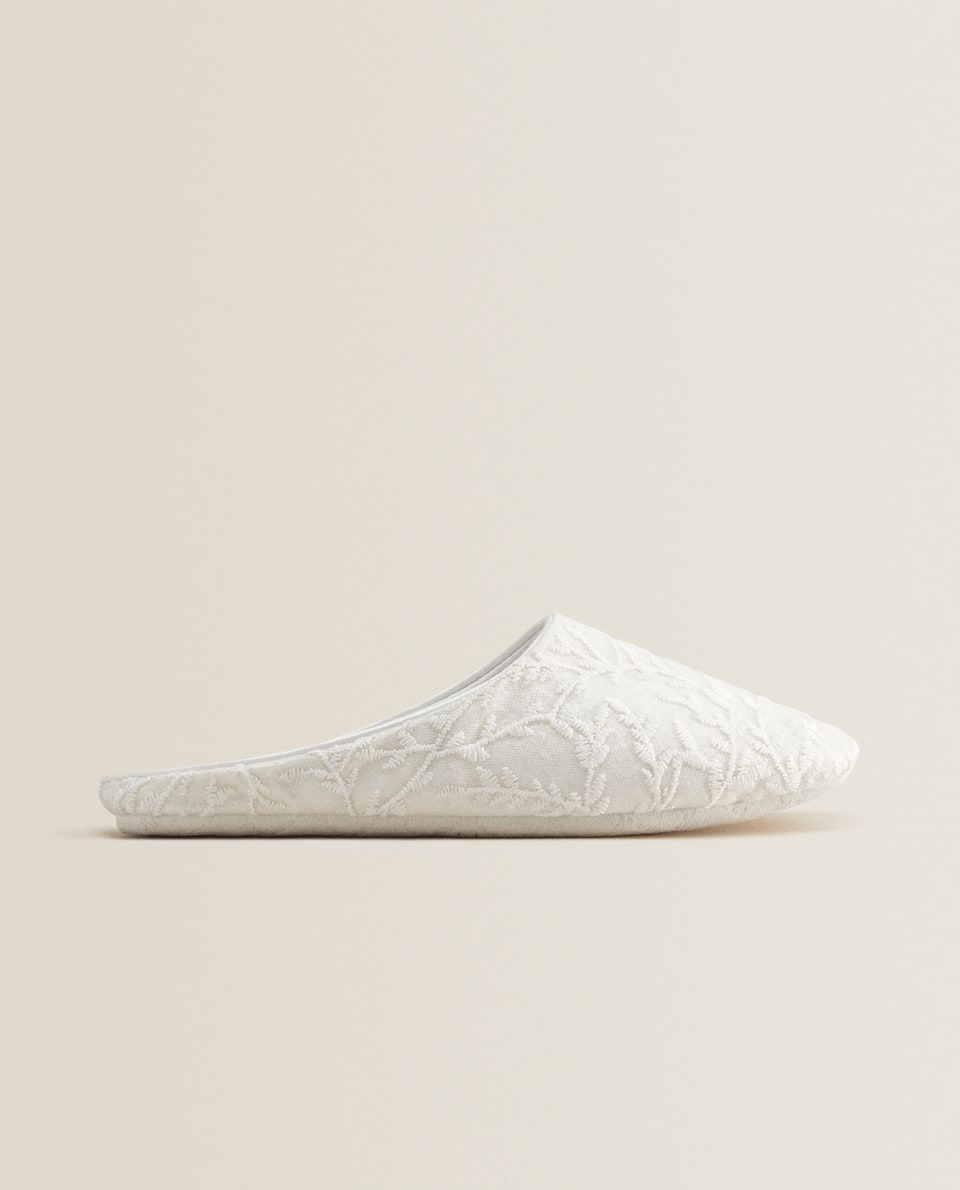 WHITE BABOUCHE SLIPPERS
