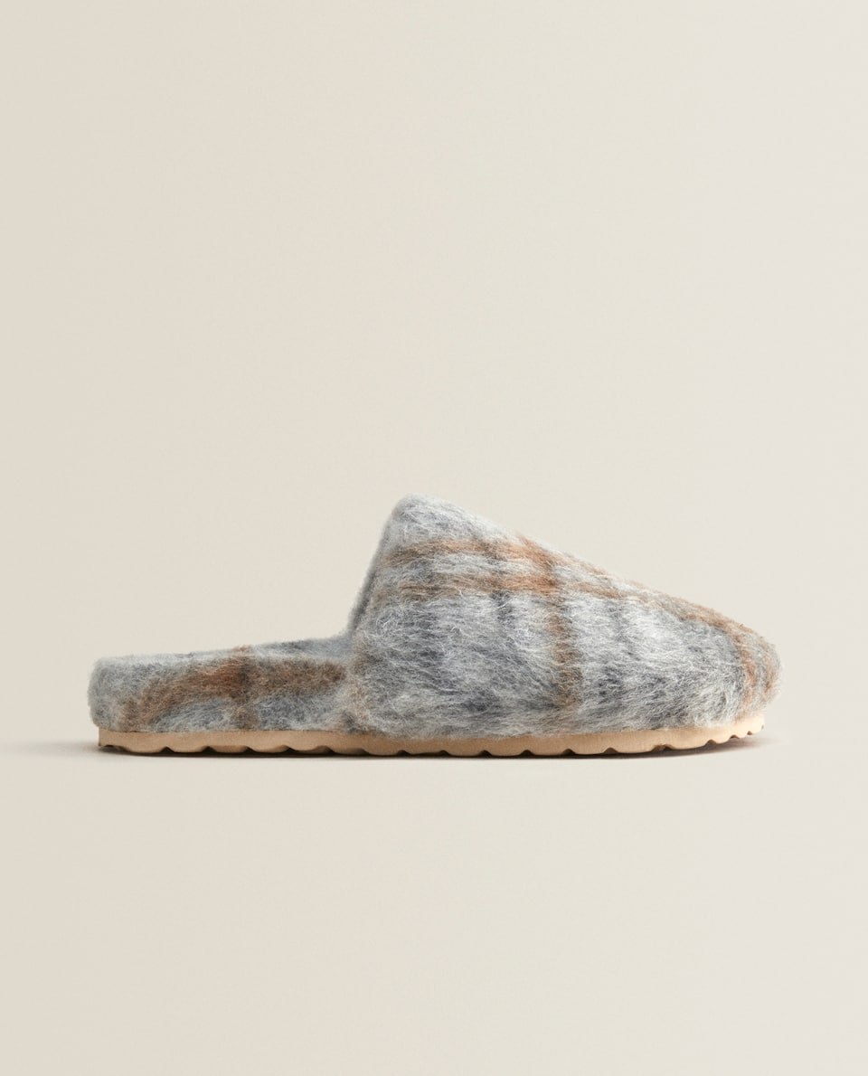 PRINTED FABRIC MULE CLOG SLIPPERS