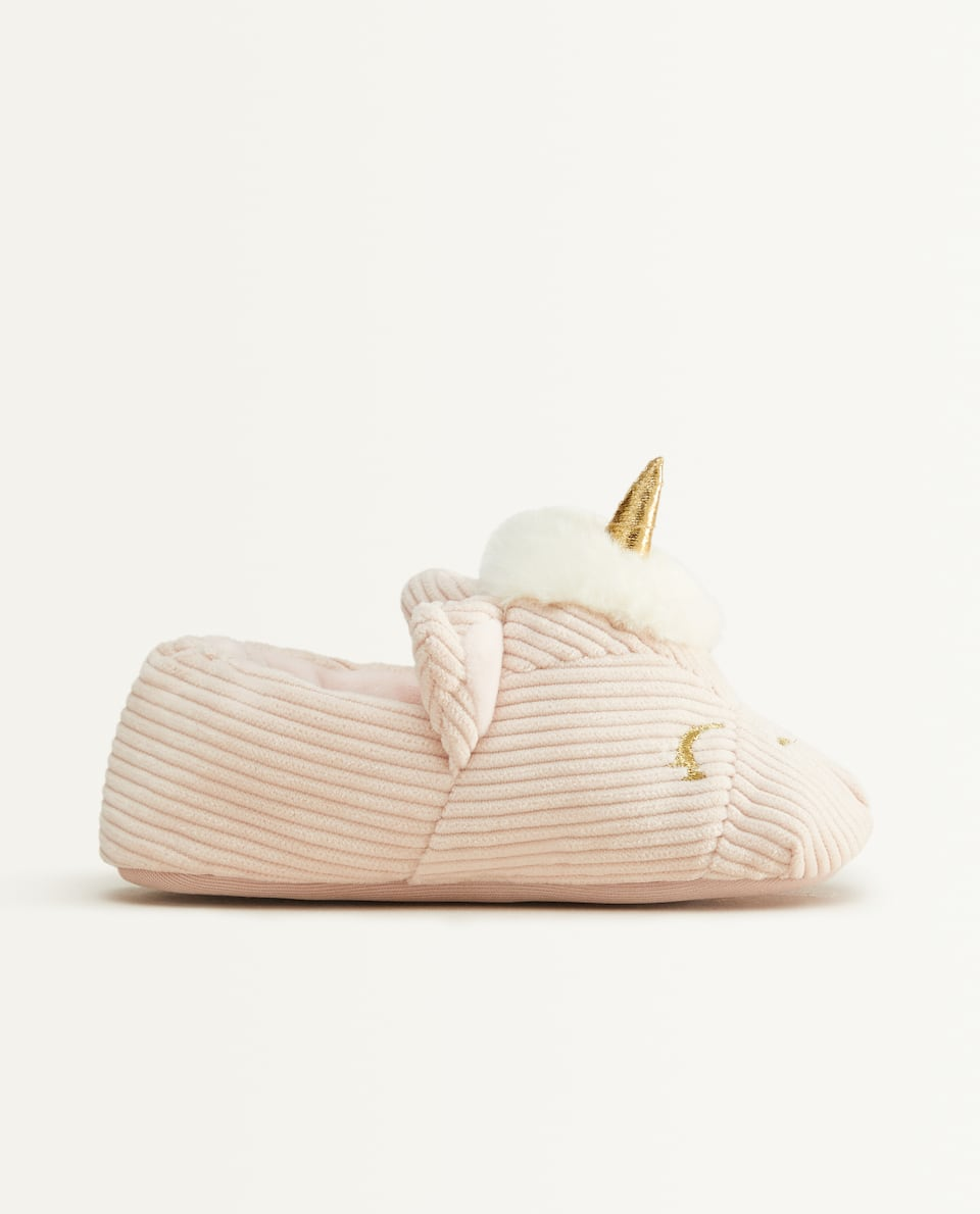 CORDUROY UNICORN SLIPPERS