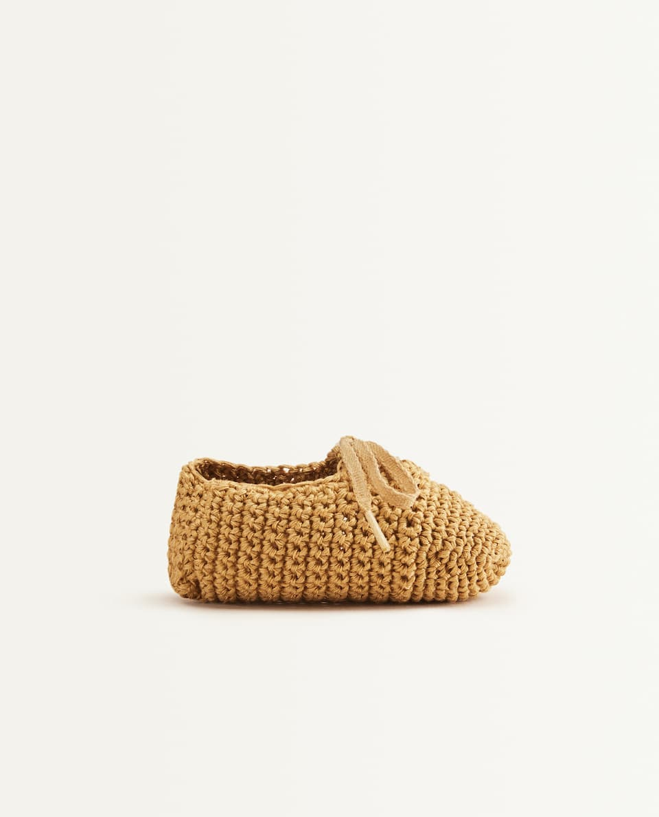 MUSTARD YELLOW CROCHET BABY BOOTIES