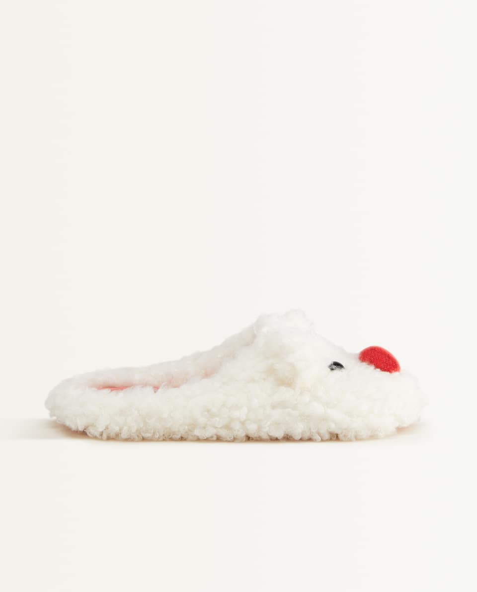 CHRISTMAS SNOWMAN MULE SLIPPERS