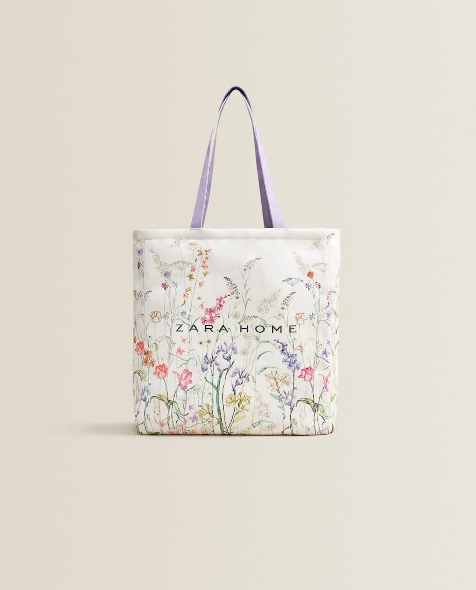 FLORAL PRINT TOTE BAG *EXCLUSIVELY FOR JAPAN*