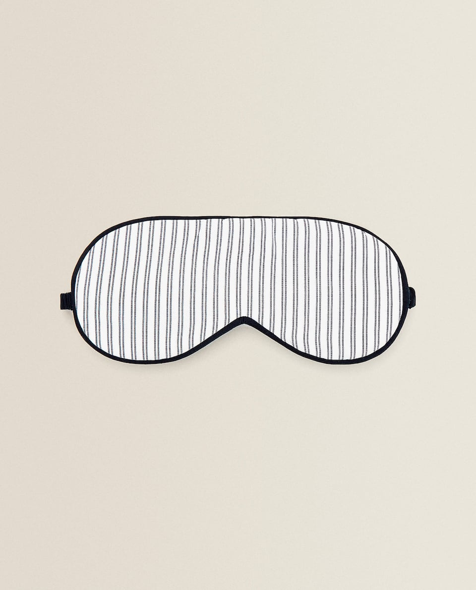 STRIPED COTTON EYE MASK