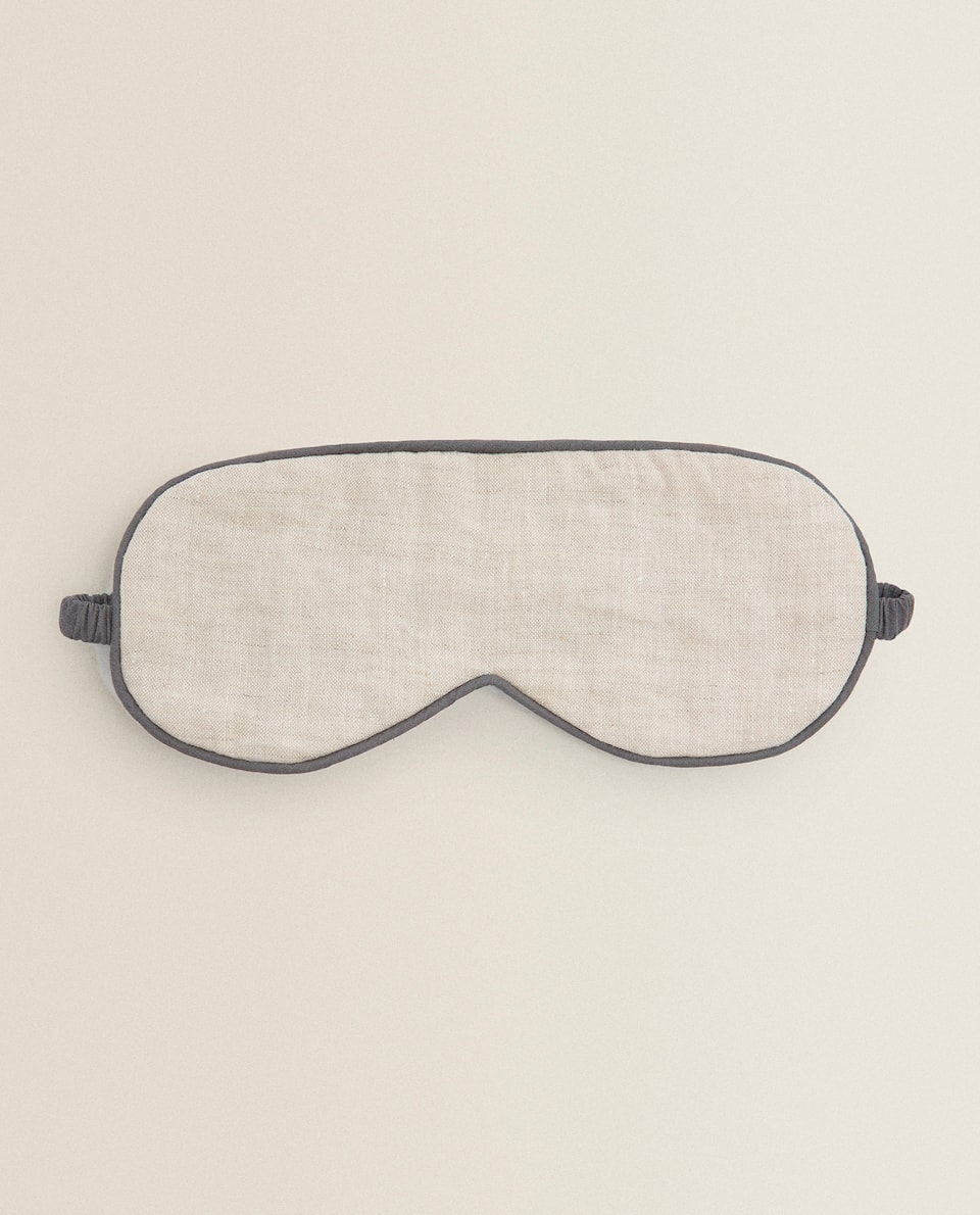 COTTON AND LINEN EYE MASK