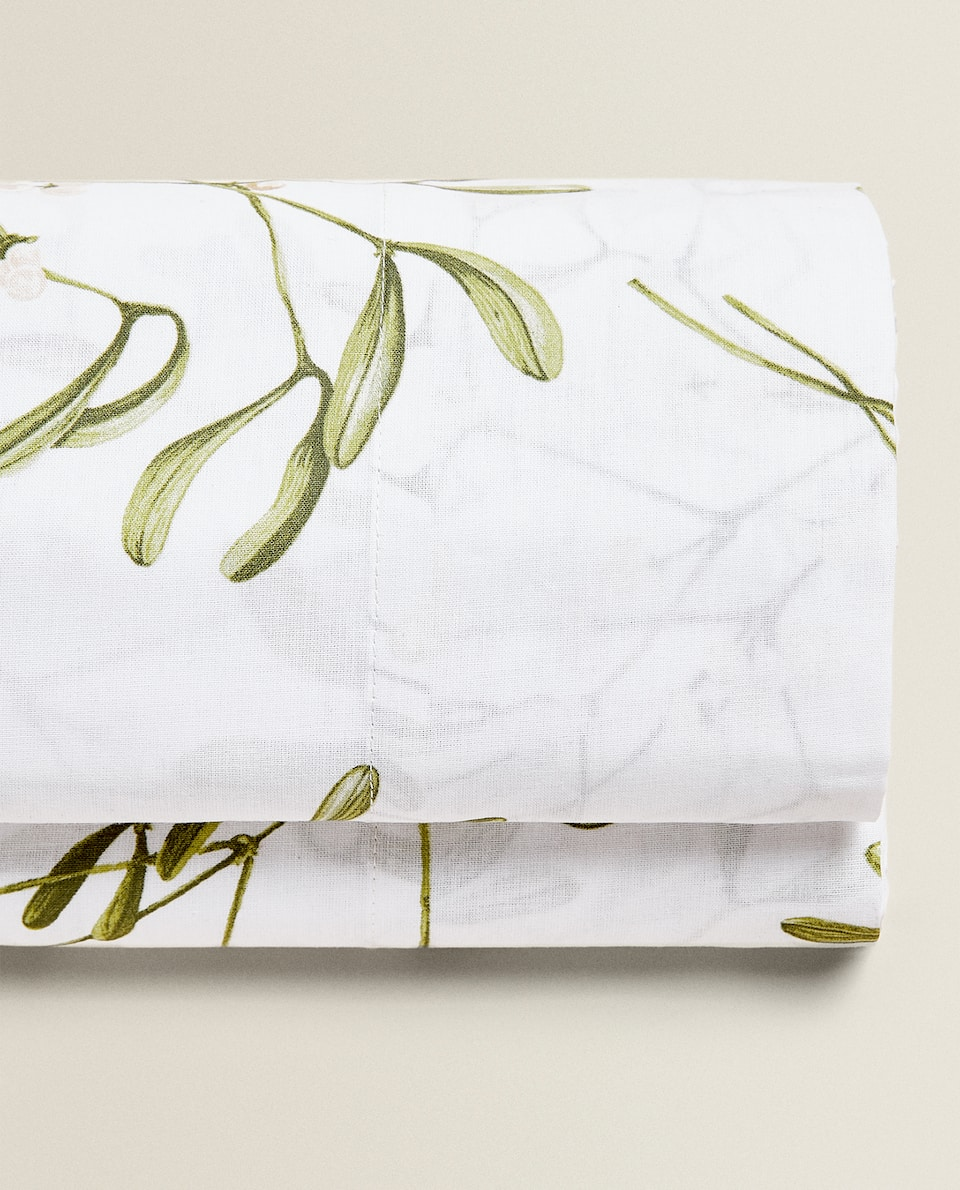 HOLLY PRINT FLAT SHEET