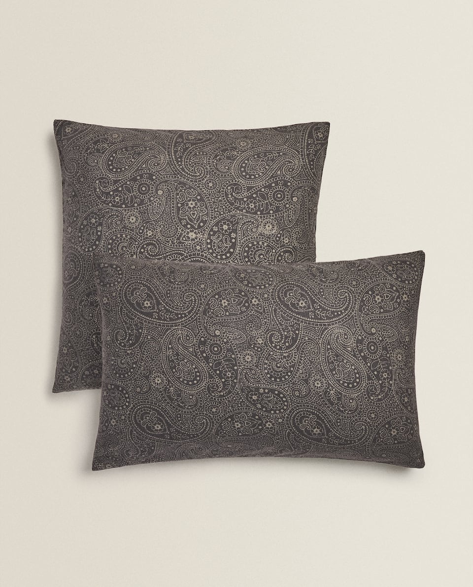 PAISLEY FLANNEL PILLOWCASE