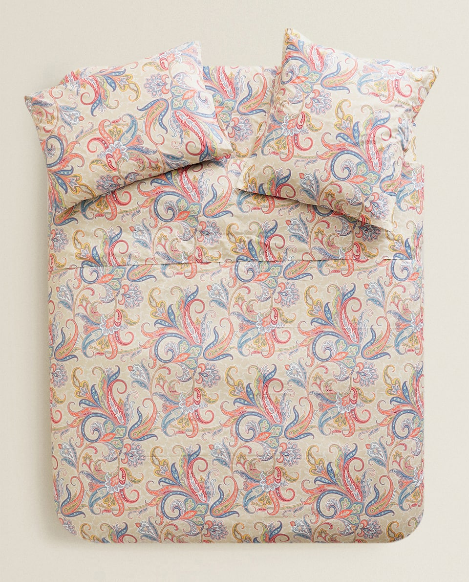 MULTICOLOURED PAISLEY DUVET COVER