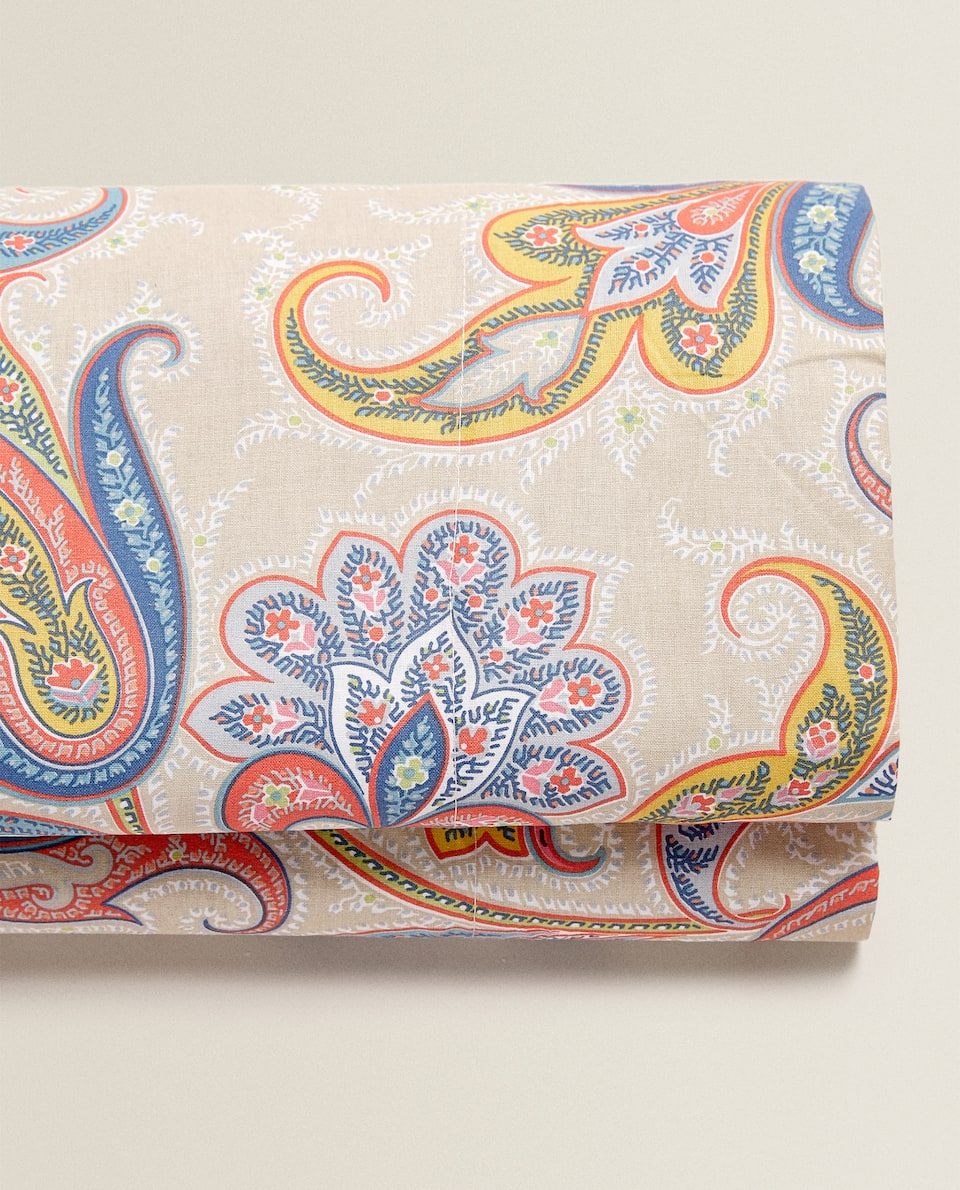 MULTICOLOURED PAISLEY FLAT SHEET