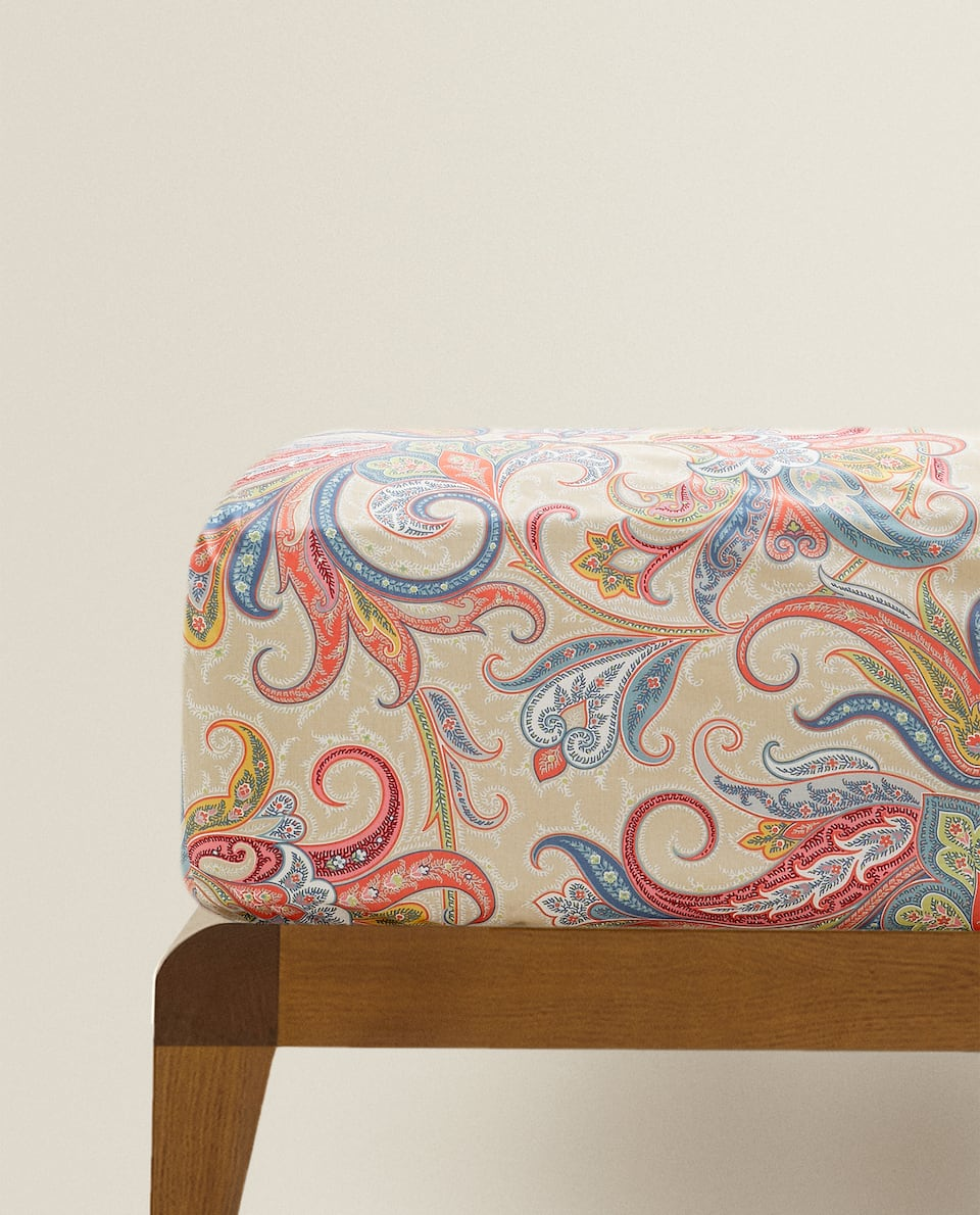 MULTICOLOURED PAISLEY FITTED SHEET