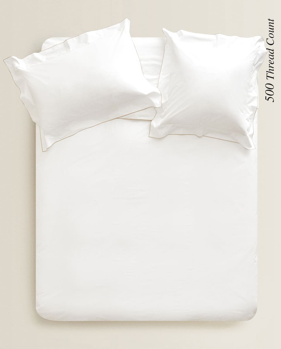 (500 THREAD COUNT) OVERLOCK DUVET COVER