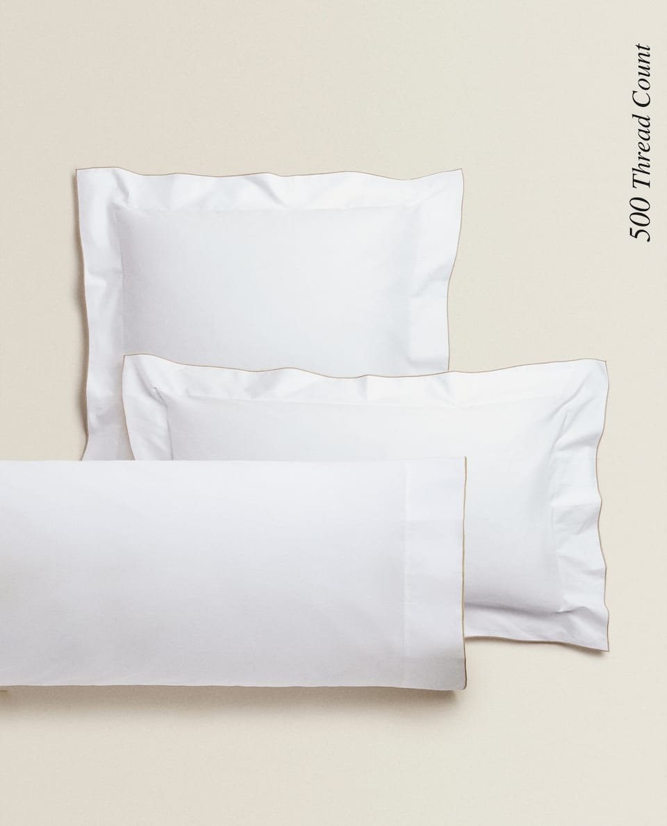 (500 THREAD COUNT) OVERLOCK PILLOWCASE