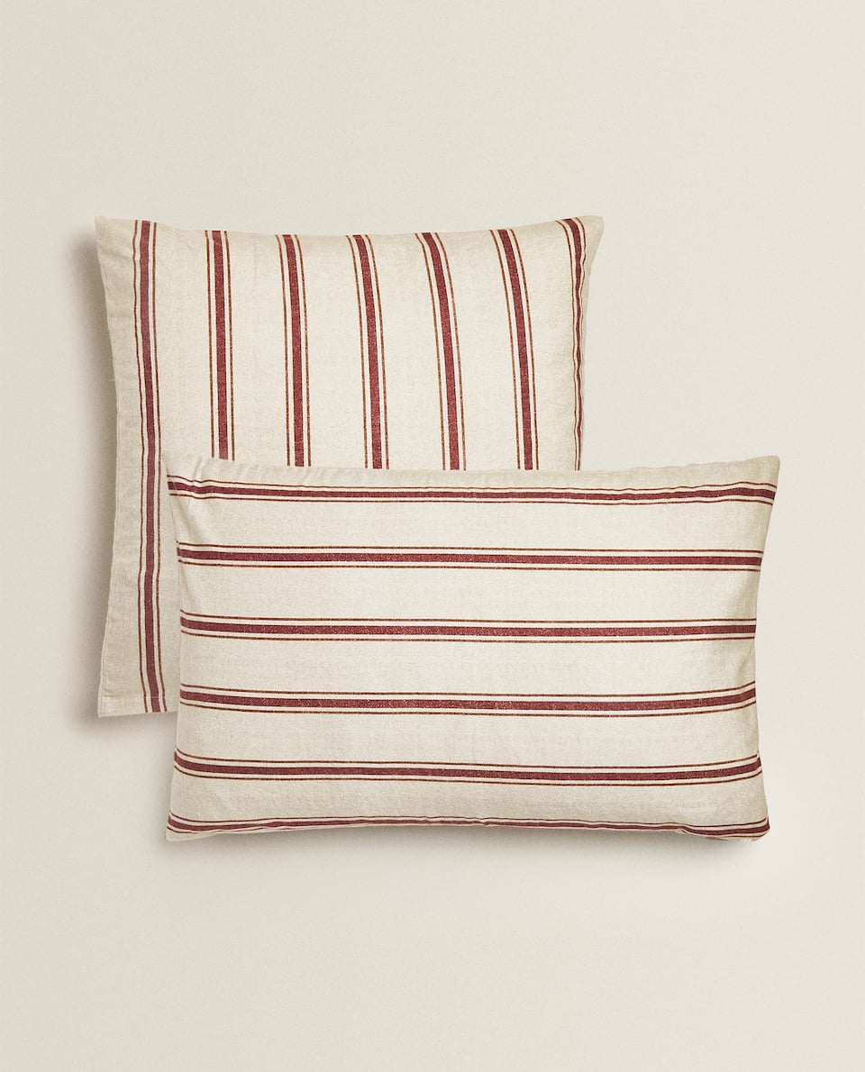 STRIPED FLANNEL PILLOWCASE