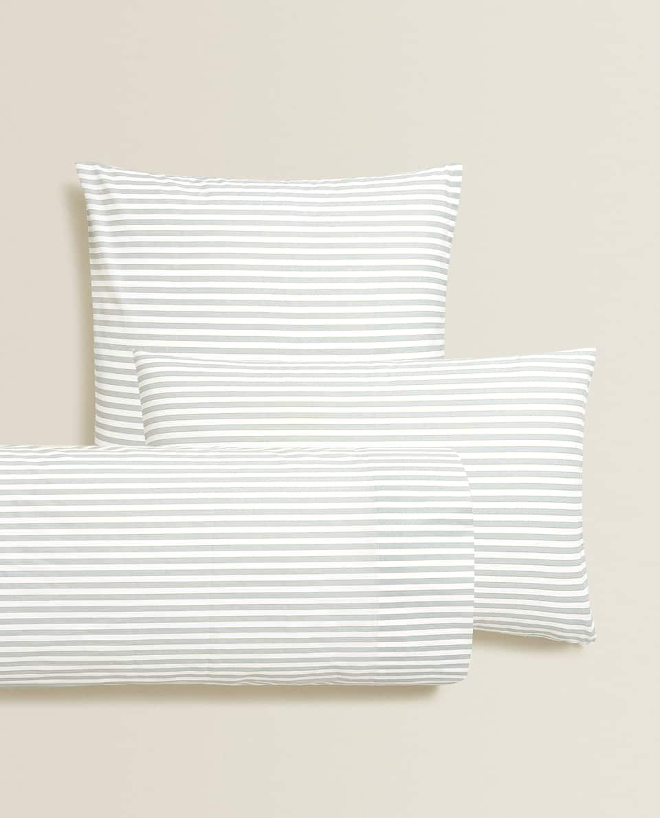 BLUE STRIPED PILLOWCASE