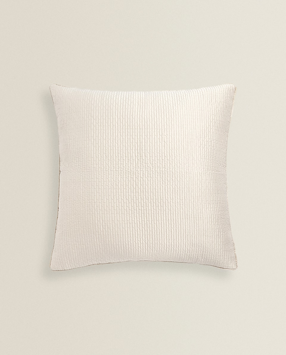 CUSHION COVER WITH RAISED GEOMETRIC DESIGN