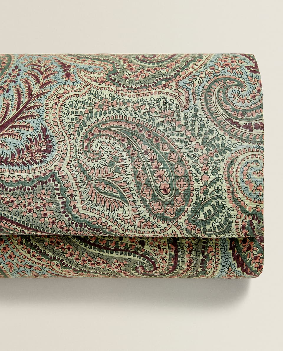 GREEN PAISLEY FLAT SHEET
