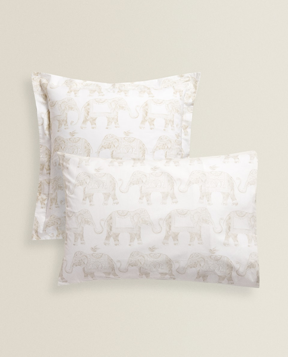 ELEPHANT PRINT PILLOWCASE